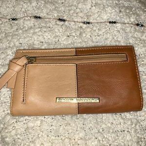 Steve Madden brown and beige wallet